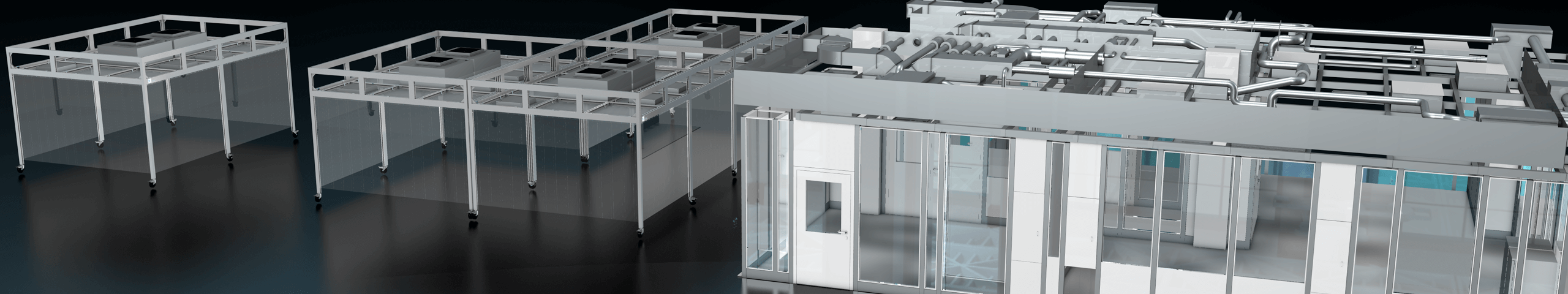 Cleanroom cabins and systems