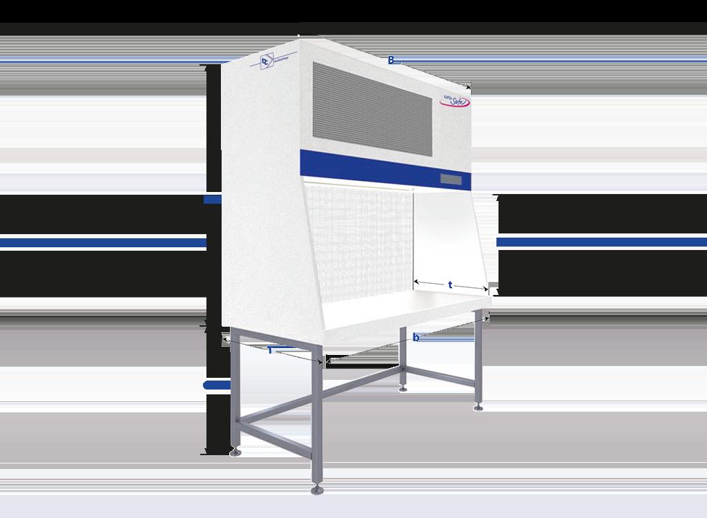 laminar flow workbench with horizontal air flow
