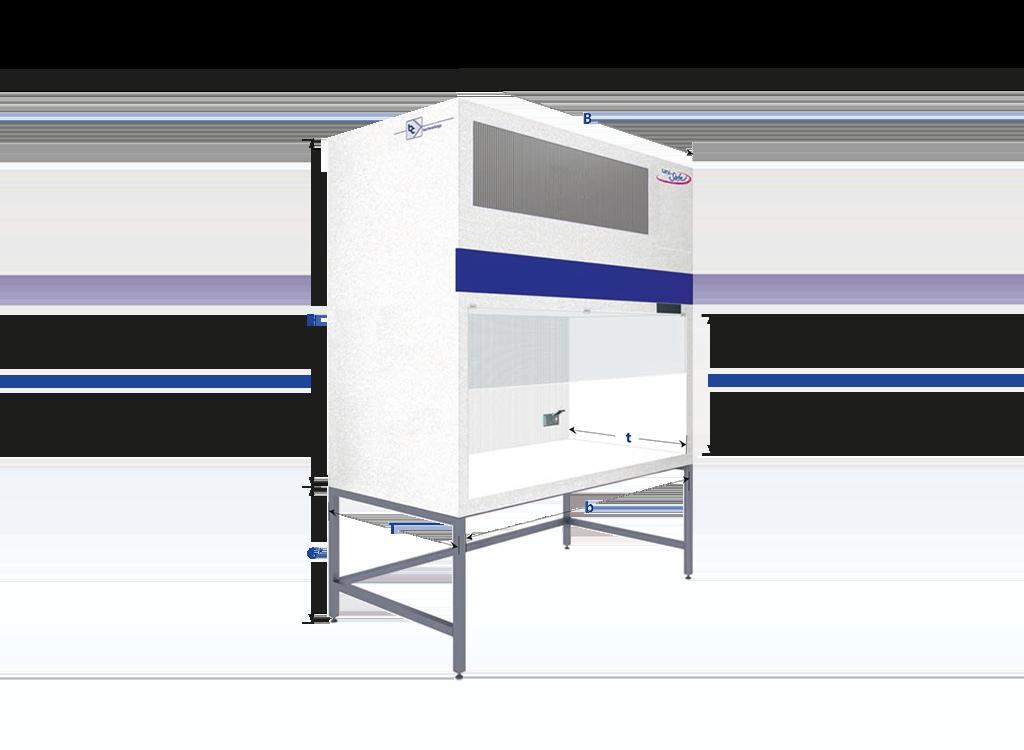 Flowbox with vertical air flow