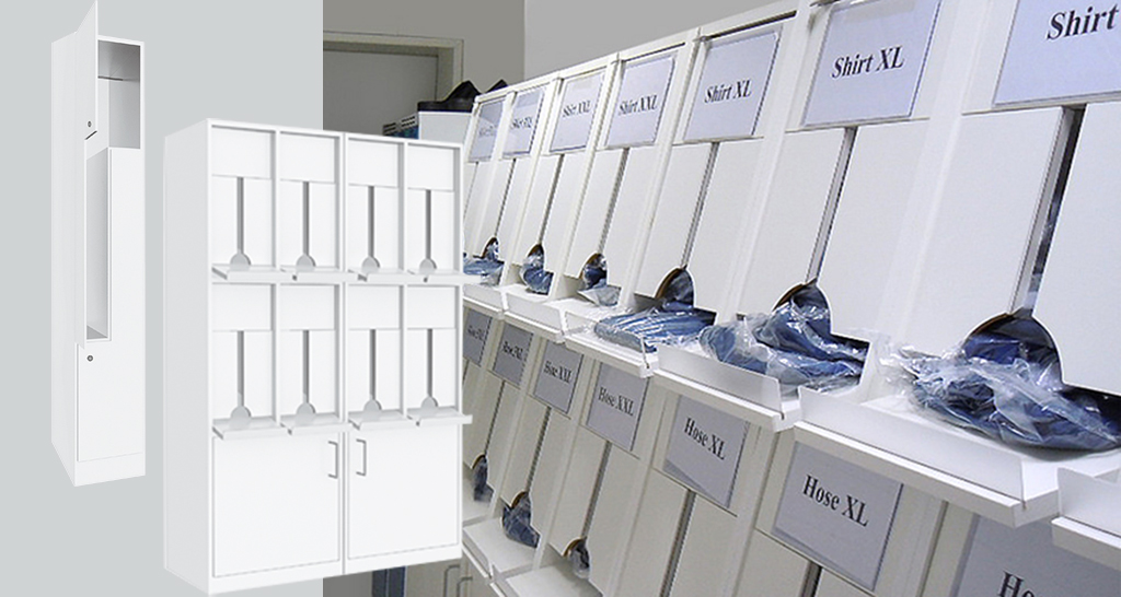 Individual cleanroom and air lock furniture