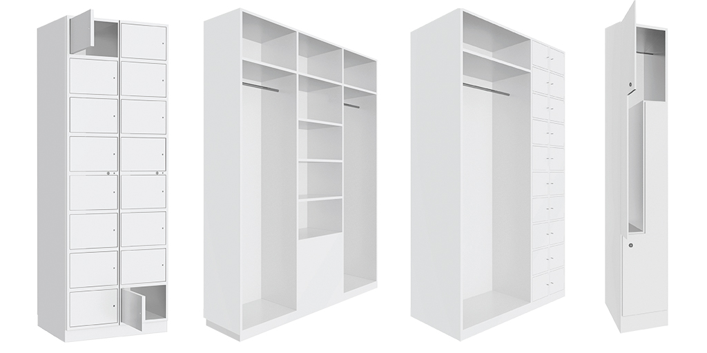 Cupboards and wardrobes for cleanrooms