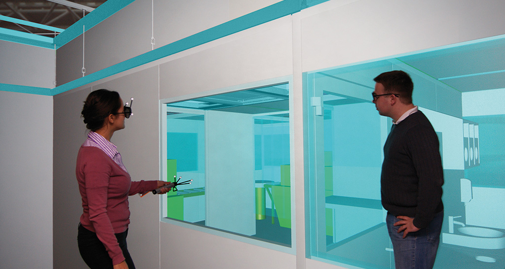 Planning cleanrooms with virtual reality