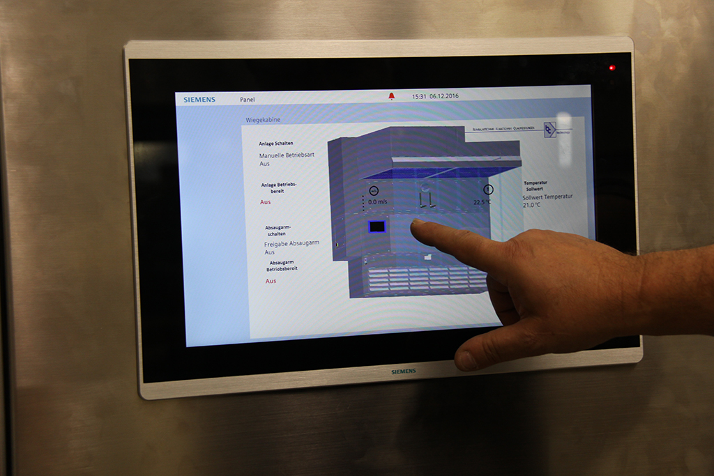 Touchpanel for Weighing Unit
