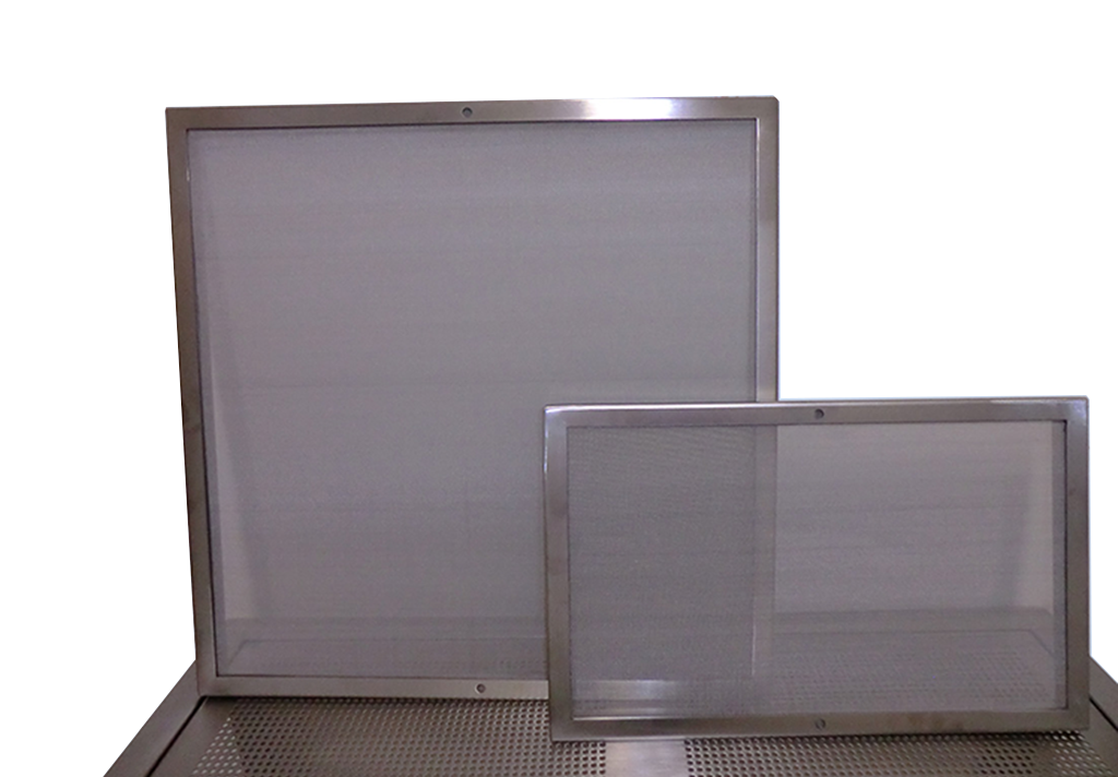Lint Screens for cleanroom technology