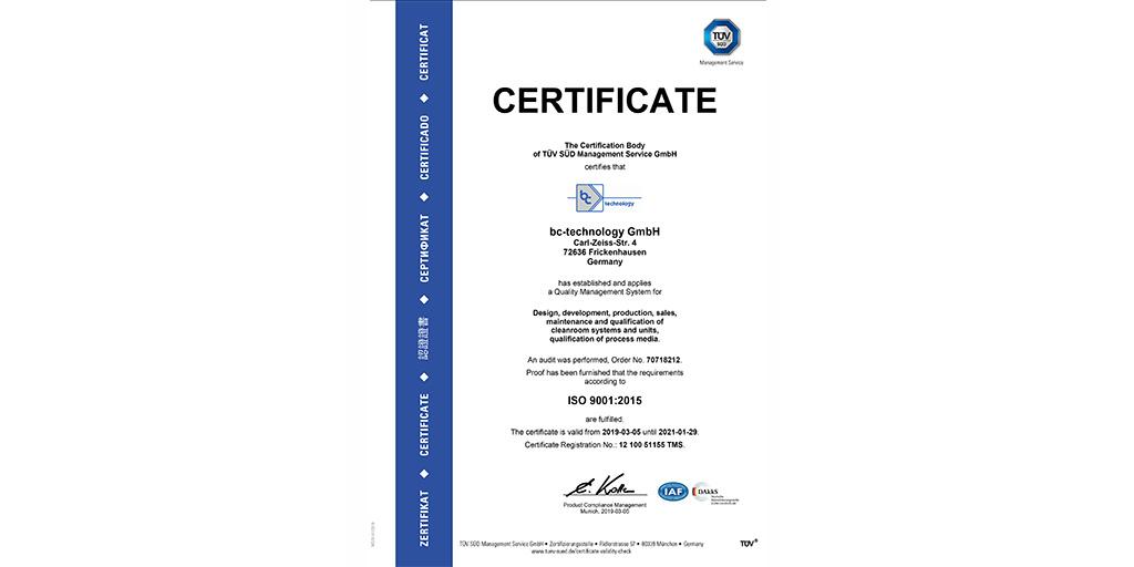 Certified according to DIN EN ISO 9001